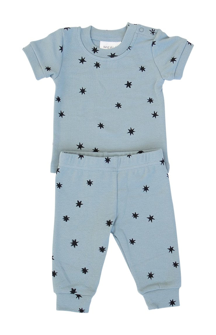 Stars Cotton Short Sleeve Two-Piece Cozy Set