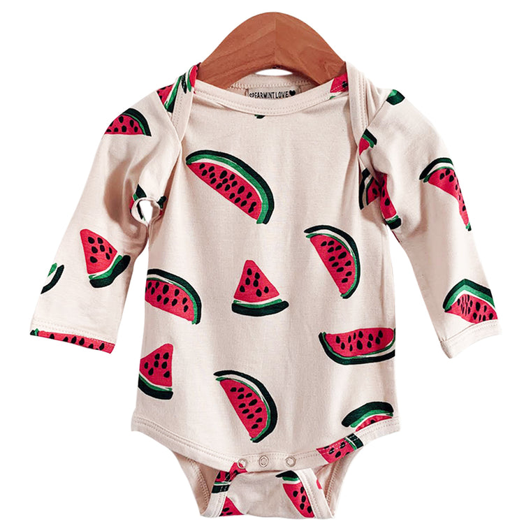 Watermelon Long Sleeve Bodysuit