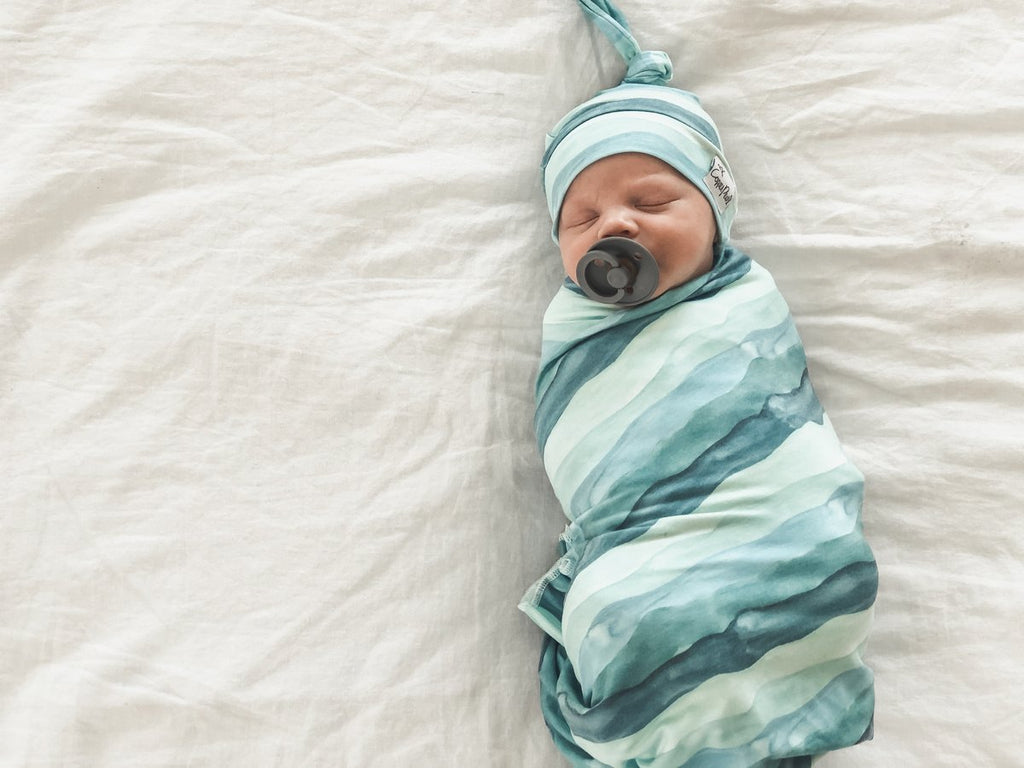 Waves Knit Swaddle
