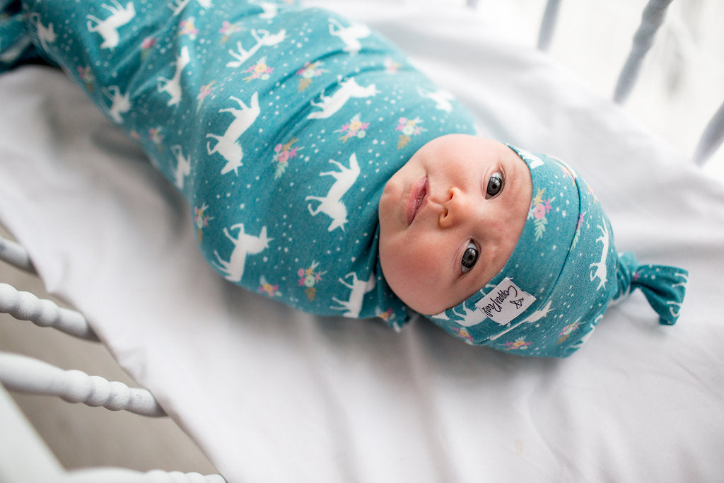 Whimsy Newborn Top Knot Hat