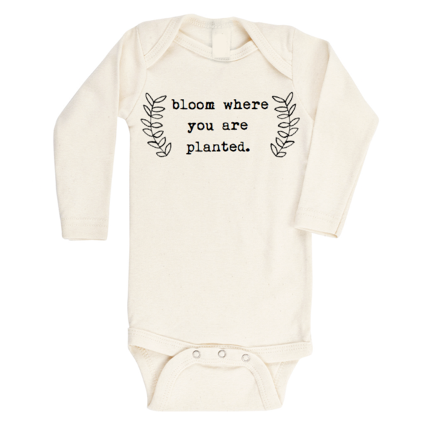Bloom Where You Are Planted Organic Long Sleeve Bodysuit