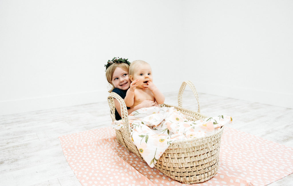Blush Bloom Swaddle