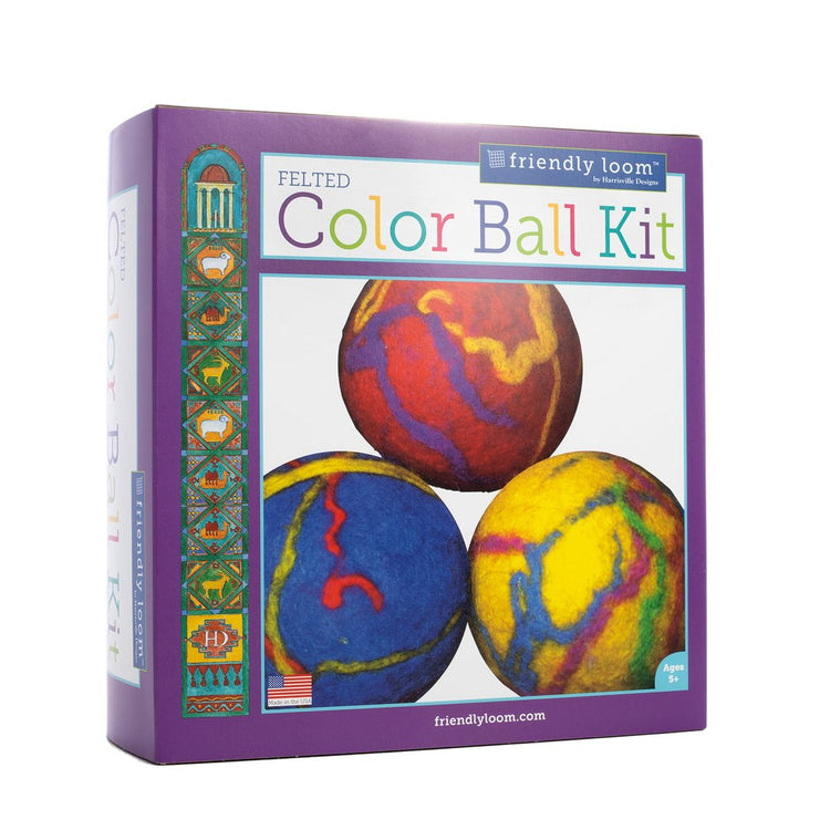 Felted Color Ball Kit