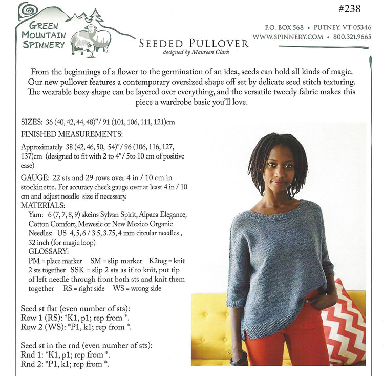 Seeded Pullover Pattern #238