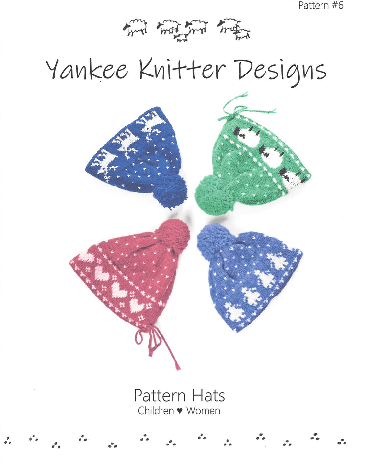 Yankee Knitters Pattern Hats for the Family Pattern #6