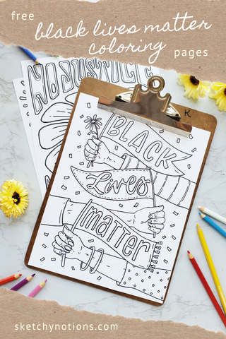 Black Lives Matter Coloring pages