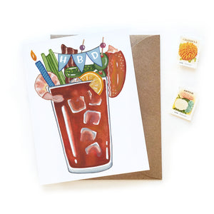 Bloody Mary Birthday Card