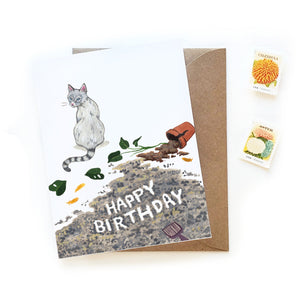 Messy Cat Birthday Card