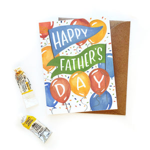Father's Day Balloons Card