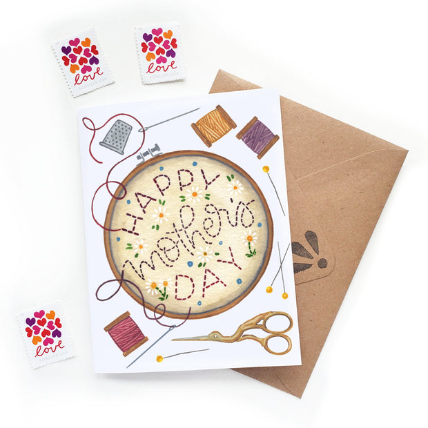 Mother's Day Embroidery Card 1