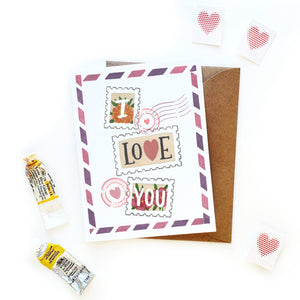 I Love You Stamps Card