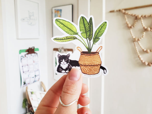 Tiny Plant and Cat Sticker 7 1