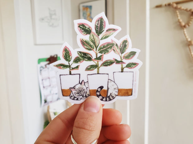 Tiny Plant and Cat Sticker 4 1