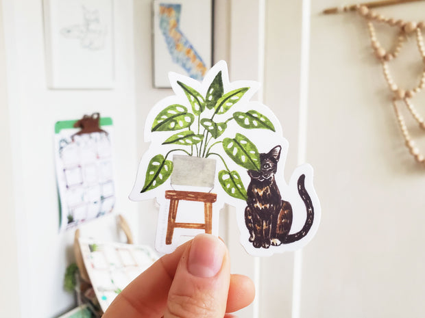 Tiny Plant and Cat Sticker 5 1