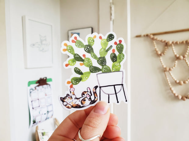 Tiny Plant and Cat Sticker 3 1