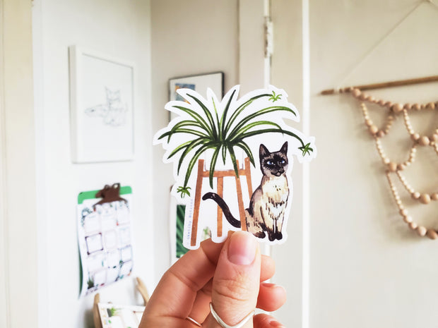 Tiny Plant and Cat Sticker 1 1