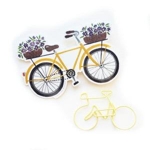 Yellow Bicycle Sticker