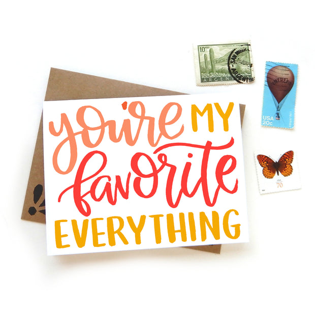 You're My Favorite Everything Card 1