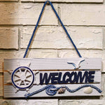 Wooden Anchor Bird Rudder Paddle Welcome Home Nautical Decor