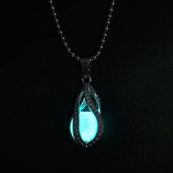Luminous Stone Mermaid Tear Drop Necklace
