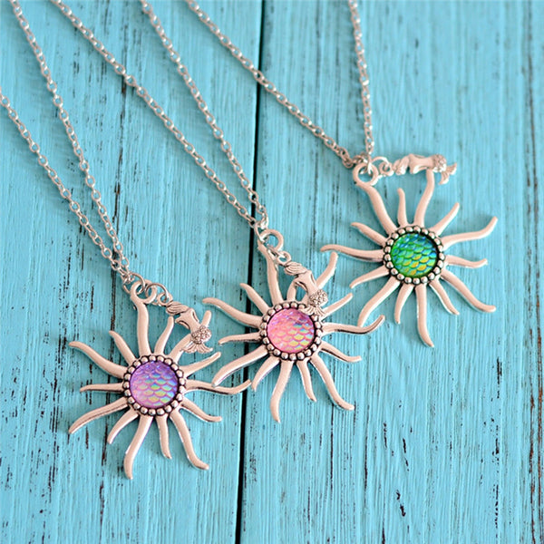Fish Scale Sun Necklace
