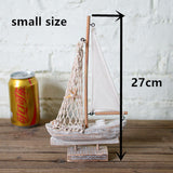 Wooden Sail Boat Nautical Home Decor