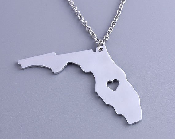 Florida Heart Necklace