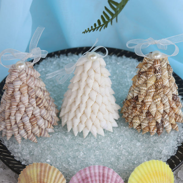 Small Conch Christmas Tree Ornaments Set of 3