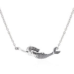 Antique Silver Mermaid Necklace