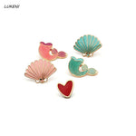 Mermaid & Shell Pins