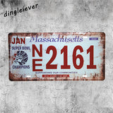 Metal License Plate Sign (Assorted)