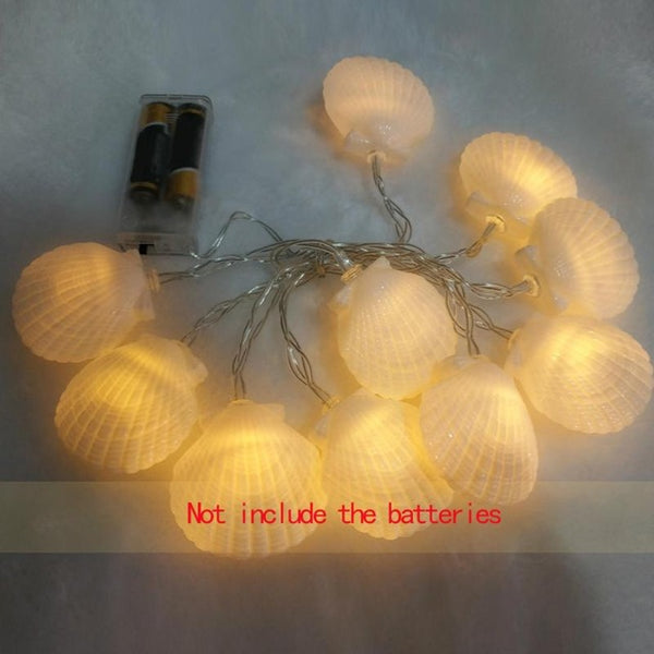 Wall Hanging LED Sea Shell Garlands 1.6m Birthday String Chain Wedding Party Photo Props Children Room Home Decor