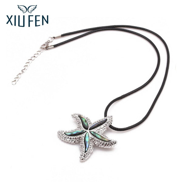 XIUFEN Necklace Abalone Shell Material Starfish Necklace Stylish Pendant Ornament Christmas New Year Birthday Gift ZK30