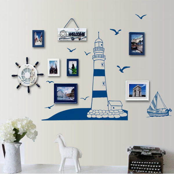 Blue Lighthouse Wall Decal