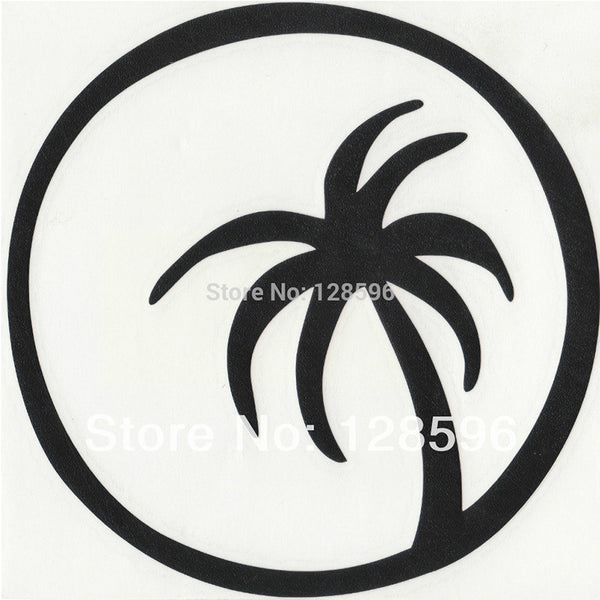 Palm Tree with Moon Car Decal