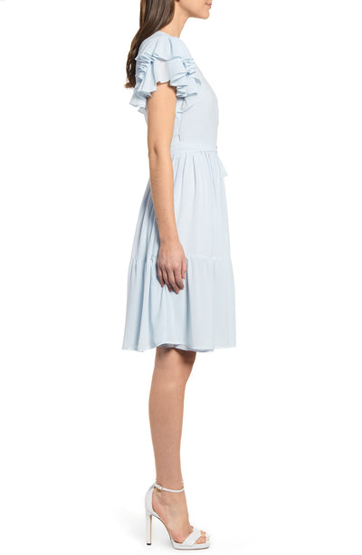 Rachel Parcell Tiered Ruffle Sleeve Dress