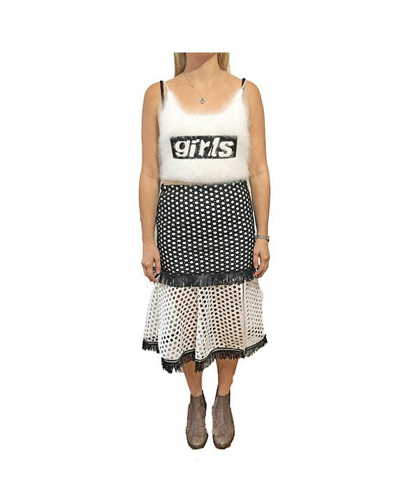 AQ/AQ Black White Skirt - Boro Dress Rentals