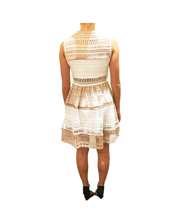 Alexis Nude & White Cutout - Boro Dress Rentals