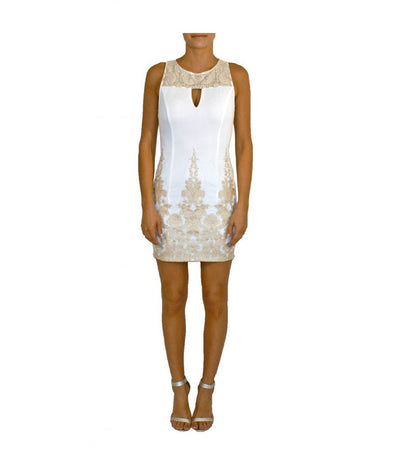Arc & Co White Gold Pattern - Boro Dress Rentals