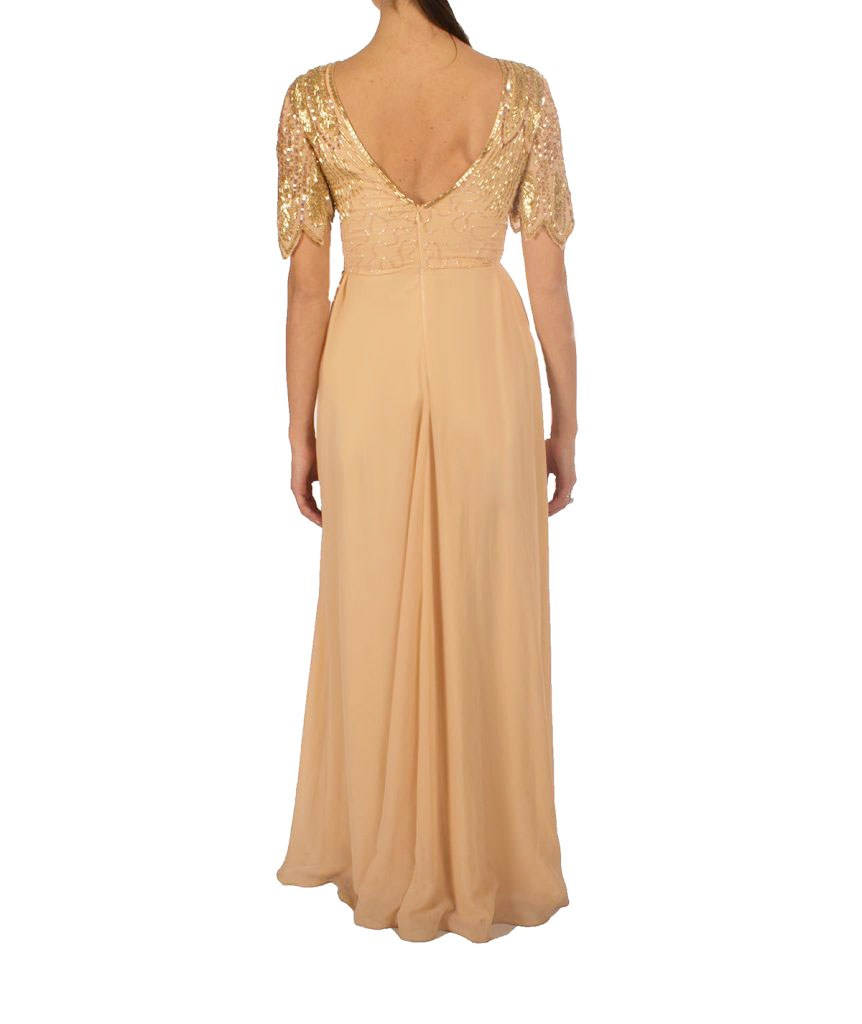Virgo's Lounge Beaded Gown