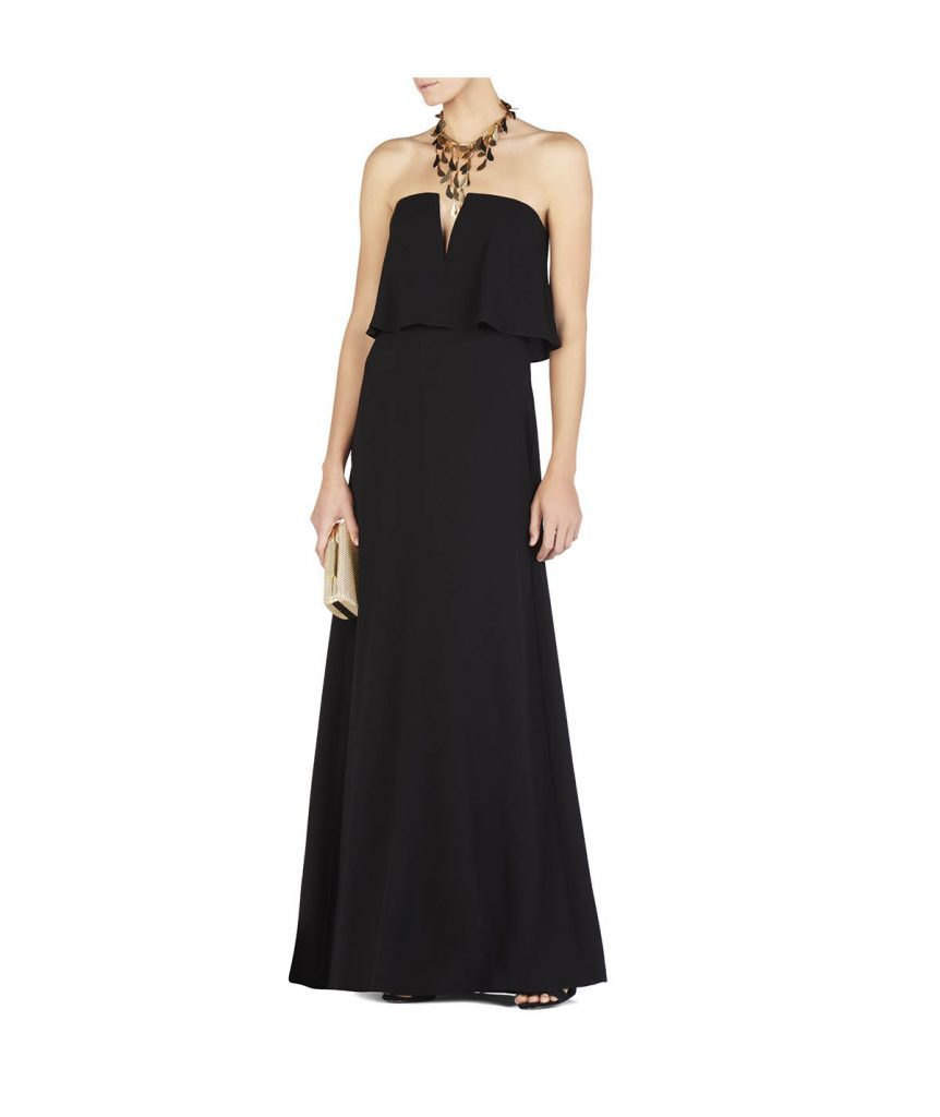 BCBG Black Tube Gown - Boro Dress Rentals
