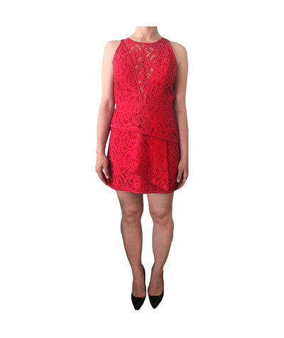 BCBG Red Lace - Boro Dress Rentals