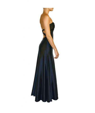 Boutique Black Strapless Gown - Boro Dress Rentals