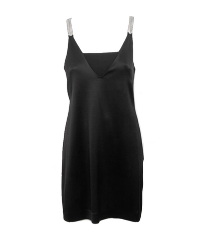 Derek Lam 10 Crosby x INTERMIX Satin Embellished Cut Out Mini Dress