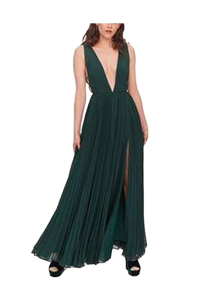 Fame and Partners Hunter Green Dress - Boro Dress Rentals