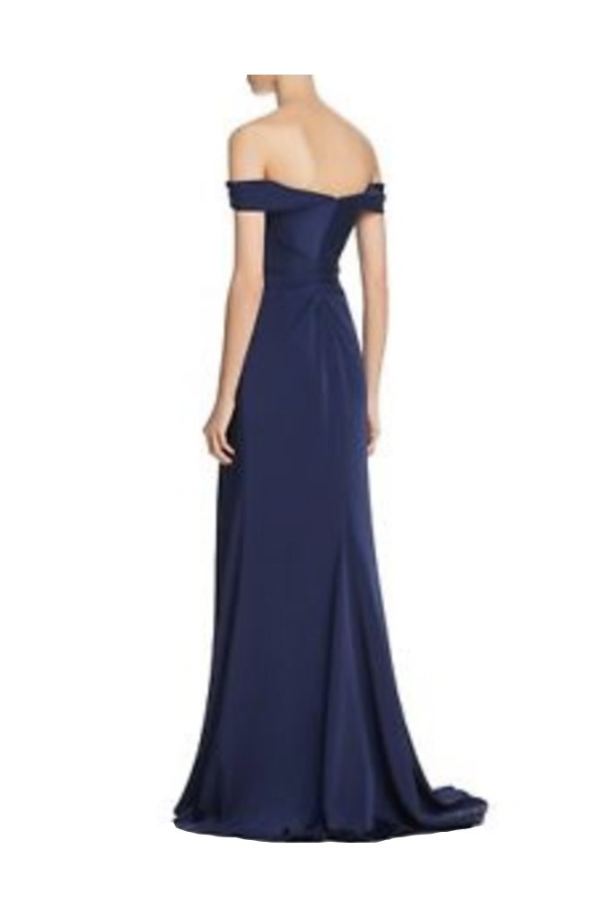 Faviana Strapless Navy Dress