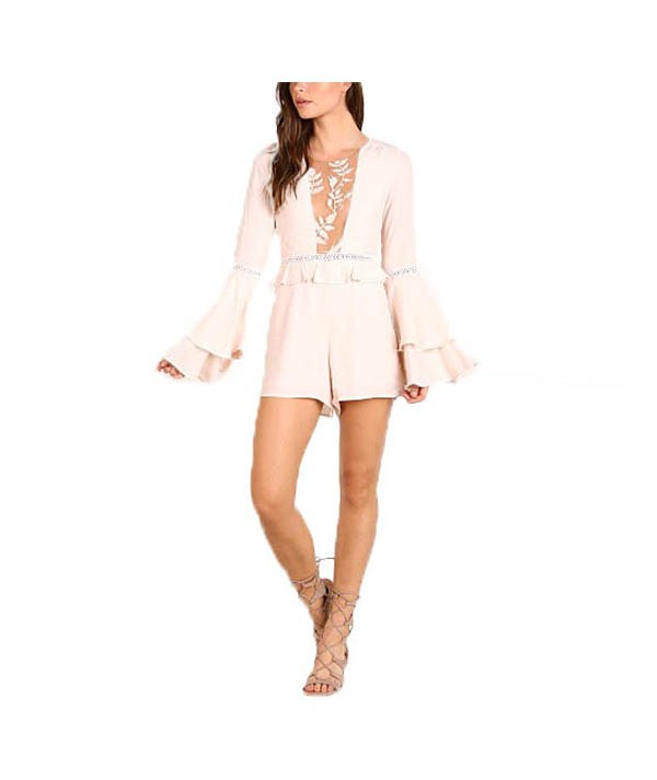 For Love & Lemons Blush Romper - Boro Dress Rentals
