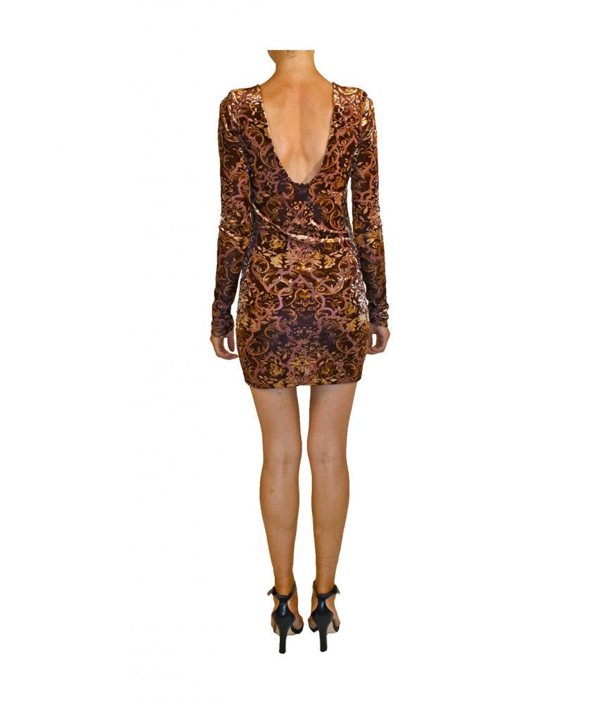 Free People Brown Velvet - Boro Dress Rentals