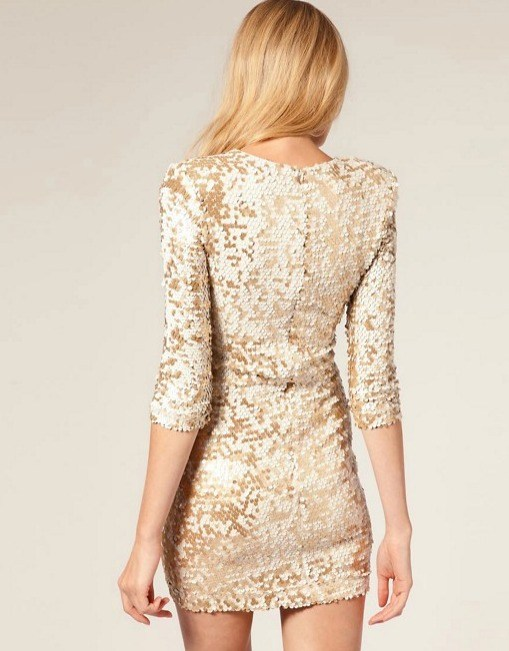 FCUK Gold Sequin - Boro Dress Rentals