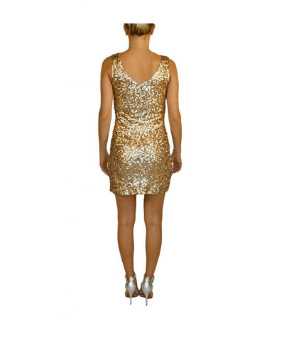 Tea n Rose Gold Sequin - Boro Dress Rentals